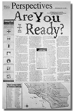 "Design Choice Communications Portfolio: Newspaper Feature ""Are You Ready?"""